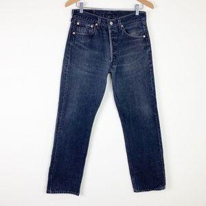 VTG LEVIS 501 XX Faded Black Denim Jeans USA MADE